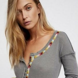 We The Free by Free People Thermal Embroidered Top